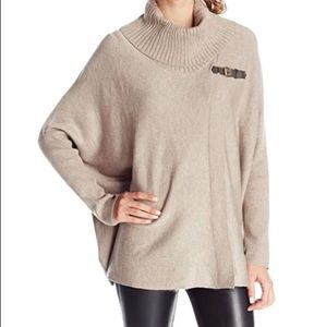Calvin Klein Oversized Sweater Cape with Buckle